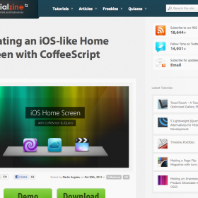 Creating an iOS-like Home Screen with CoffeeScript